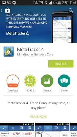 Metatrader 4 app download